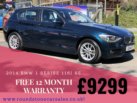 BMW 1 Series 116I SE £2500 OF EXTRAS