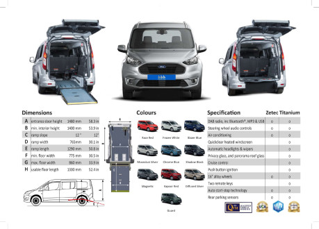 Ford Grand Tourneo Connect 2020 Titanium NEW & UNREGISTERED Wheelchair Accessible Vehicle WAV 39