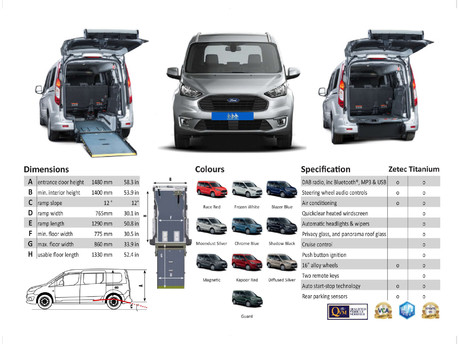 Ford Tourneo Connect BRAND NEW & UNREGISTERED GRAND TITANIUM TDCI wheelchair accessible vehicles