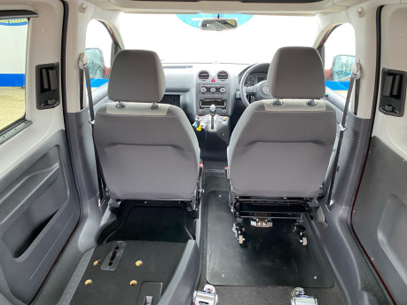 Volkswagen Caddy Life 2012 C20 LIFE TDI drive from wheelchair accessible vehicle WAV 8