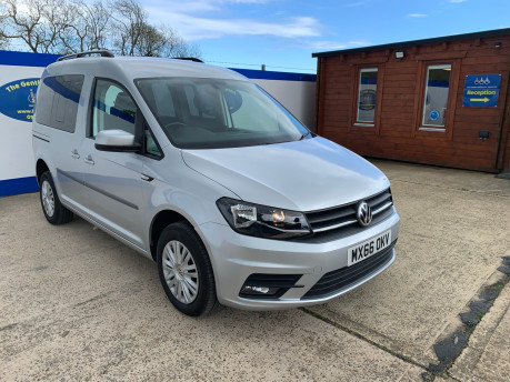Volkswagen Caddy Life 2016 C20 LIFE TDI upfront wheelchair & scooter accessible vehicle WAV 2