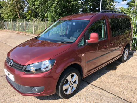 Volkswagen Caddy Maxi Life 2014 C20 LIFE TDI wheelchair & scooter accessible vehicle WAV 2