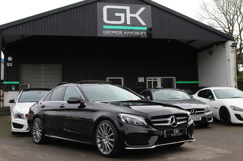 Mercedes-Benz C Class C220 D AMG LINE PREMIUM - PAN ROOF - 19 INCH ALLOYS - ONE OWNER - VAT Q 62