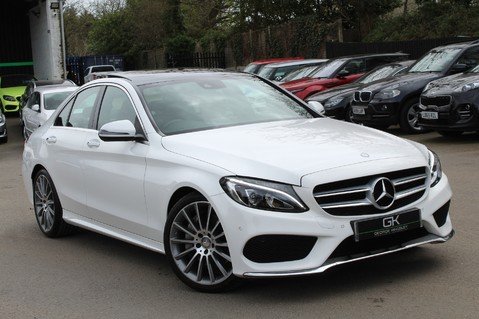 Mercedes-Benz C Class C250 D AMG LINE PREMIUM PLUS -EURO 6 -CRANBERRY RED LEATHER- 19 INCH ALLOYS 1