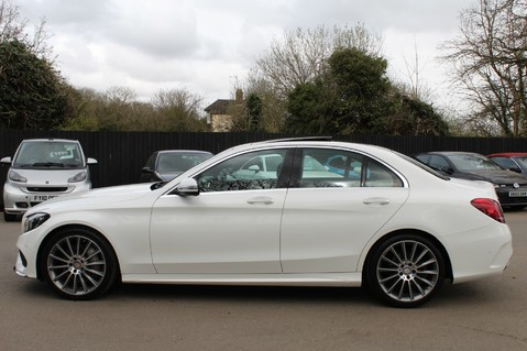 Mercedes-Benz C Class C250 D AMG LINE PREMIUM PLUS -EURO 6 -CRANBERRY RED LEATHER- 19 INCH ALLOYS 7