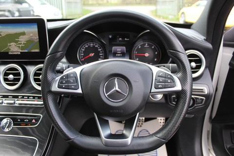 Mercedes-Benz C Class C250 D AMG LINE PREMIUM PLUS -EURO 6 -CRANBERRY RED LEATHER- 19 INCH ALLOYS 48