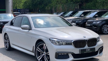 BMW 7 Series 730D XDRIVE M SPORT - SUNROOF- HARMAN KARDON- 1 OWNER - MINERAL WHITE Video