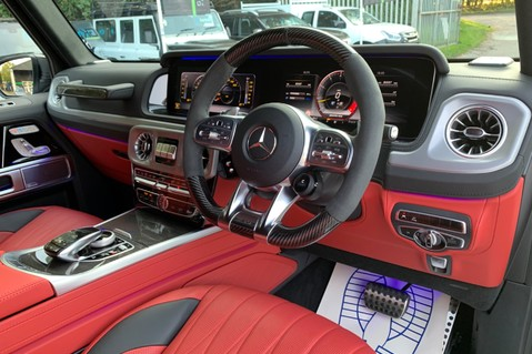 Mercedes-Benz G Class AMG G 63 4MATIC - CARBON-NIGHT PK-EXCLUSIVE RED LEATHER-FORGED ALLOYS 43