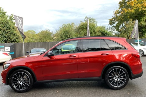 Mercedes-Benz GLC GLC 350 D 4MATIC AMG LINE PREMIUM -NIGHT PACKAGE -RARE DESIGNO HYACINTH RED 7