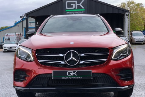 Mercedes-Benz GLC GLC 350 D 4MATIC AMG LINE PREMIUM -NIGHT PACKAGE -RARE DESIGNO HYACINTH RED 9