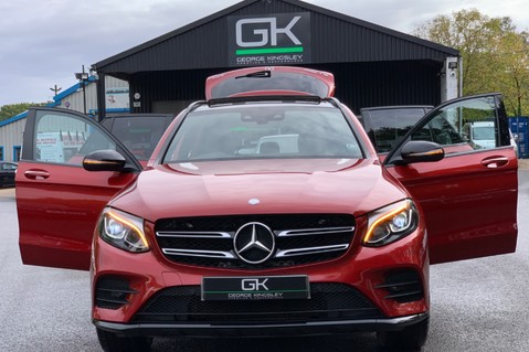 Mercedes-Benz GLC GLC 350 D 4MATIC AMG LINE PREMIUM -NIGHT PACKAGE -RARE DESIGNO HYACINTH RED 14
