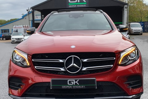 Mercedes-Benz GLC GLC 350 D 4MATIC AMG LINE PREMIUM -NIGHT PACKAGE -RARE DESIGNO HYACINTH RED 28