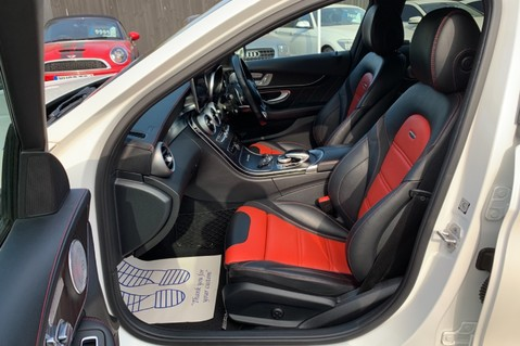 Mercedes-Benz C Class AMG C 63 PREMIUM - RED/BLACK LEATHER - 19 INCH CROSS SPOKES - AMG EXHAUST 10