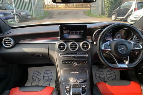 Mercedes-Benz C Class AMG C 63 PREMIUM - RED/BLACK LEATHER - 19 INCH CROSS SPOKES - AMG EXHAUST 11