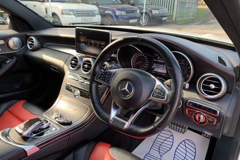 Mercedes-Benz C Class AMG C 63 PREMIUM - RED/BLACK LEATHER - 19 INCH CROSS SPOKES - AMG EXHAUST 42