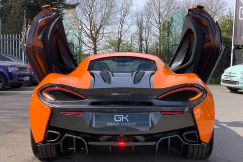 McLaren 570S V8 SSG - VENTURA ORANGE - SPORTS EXHAUST- LUX PACK- B&W -CARBON -SOFT CLOSE 15