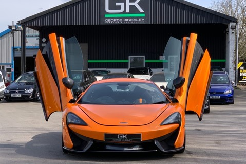 McLaren 570S V8 SSG - VENTURA ORANGE - SPORTS EXHAUST- LUX PACK- B&W -CARBON -SOFT CLOSE 95