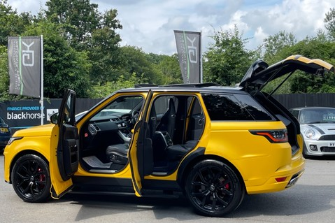 Land Rover Range Rover Sport SVR -RARE PREMIUM PALLETE MATT YELLOW-HEAD UP-ELECTRIC STEPS- SLIDING ROOF 13