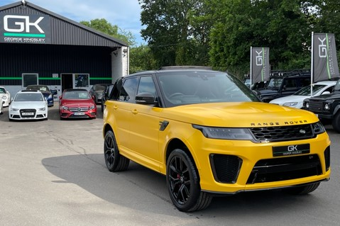 Land Rover Range Rover Sport SVR -RARE PREMIUM PALLETE MATT YELLOW-HEAD UP-ELECTRIC STEPS- SLIDING ROOF 127