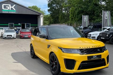 Land Rover Range Rover Sport SVR -RARE PREMIUM PALLETE MATT YELLOW-HEAD UP-ELECTRIC STEPS- SLIDING ROOF 129