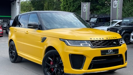 Land Rover Range Rover Sport SVR -RARE PREMIUM PALLETE MATT YELLOW-HEAD UP-ELECTRIC STEPS- SLIDING ROOF Video