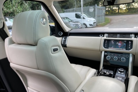 Land Rover Range Rover TDV6 VOGUE SE- EURO 6 / ULEZ READY - ALL BLACK + IVORY LEATHER -DIGITAL TV 27