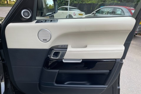 Land Rover Range Rover TDV6 VOGUE SE- EURO 6 / ULEZ READY - ALL BLACK + IVORY LEATHER -DIGITAL TV 43