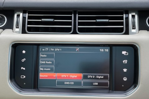 Land Rover Range Rover TDV6 VOGUE SE- EURO 6 / ULEZ READY - ALL BLACK + IVORY LEATHER -DIGITAL TV 55