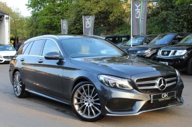 Mercedes-Benz C Class C250 D AMG LINE PREMIUM PLUS -1 OWNER-FMBSH-IVORY LEATHER/PAN ROOF/KEYLESS