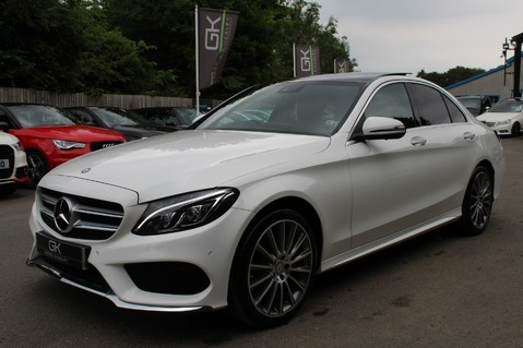 Mercedes-Benz C Class C250 D AMG LINE PREMIUM PLUS-EURO6- AIRMATIC -RED LEATHER-360 CAMERAS -LEDS 7