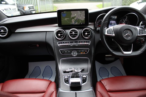 Mercedes-Benz C Class C250 D AMG LINE PREMIUM PLUS-EURO6- AIRMATIC -RED LEATHER-360 CAMERAS -LEDS 11
