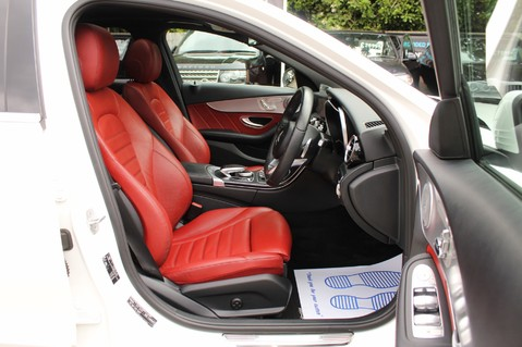 Mercedes-Benz C Class C250 D AMG LINE PREMIUM PLUS-EURO6- AIRMATIC -RED LEATHER-360 CAMERAS -LEDS 39