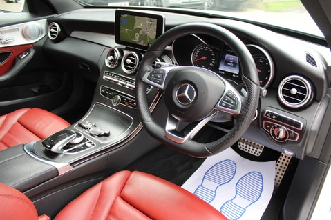 Mercedes-Benz C Class C250 D AMG LINE PREMIUM PLUS-EURO6- AIRMATIC -RED LEATHER-360 CAMERAS -LEDS 40