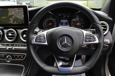 Mercedes-Benz C Class C250 D AMG LINE PREMIUM PLUS-EURO6- AIRMATIC -RED LEATHER-360 CAMERAS -LEDS 44