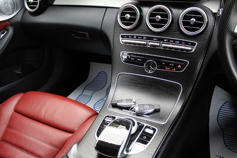 Mercedes-Benz C Class C250 D AMG LINE PREMIUM PLUS-EURO6- AIRMATIC -RED LEATHER-360 CAMERAS -LEDS 59