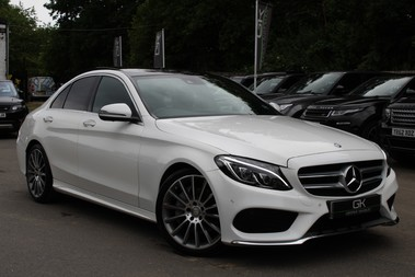 Mercedes-Benz C Class C250 D AMG LINE PREMIUM PLUS-EURO6- AIRMATIC -RED LEATHER-360 CAMERAS -LEDS