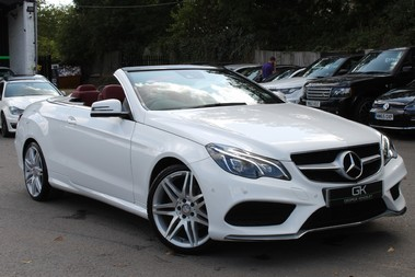 Mercedes-Benz E Class E220 BLUETEC AMG LINE - EURO 6 - RED LEATHER/19 INCH ALLOYS/DAB/AIRSCARF