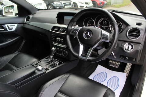 Mercedes-Benz C Class C63 AMG - 510 BHP - DIAMOND WHITE/HARMAN KARDON/PAN ROOF/DAB/COMAND -FMBSH 47