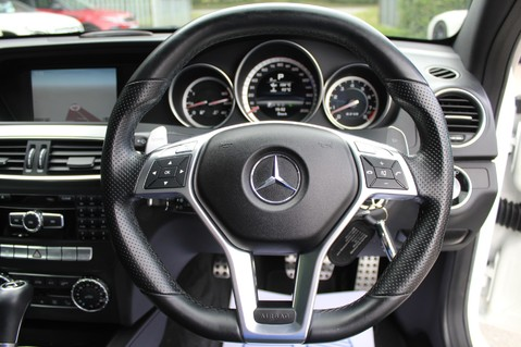 Mercedes-Benz C Class C63 AMG - 510 BHP - DIAMOND WHITE/HARMAN KARDON/PAN ROOF/DAB/COMAND -FMBSH 50