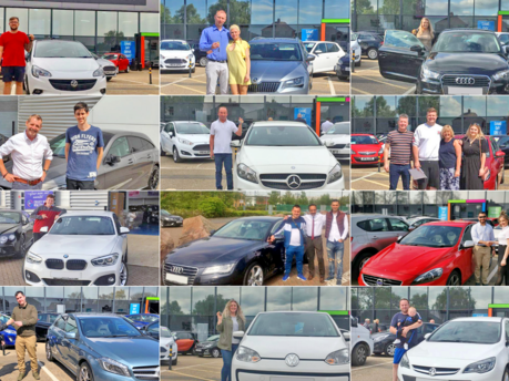 Customers With Their New Car